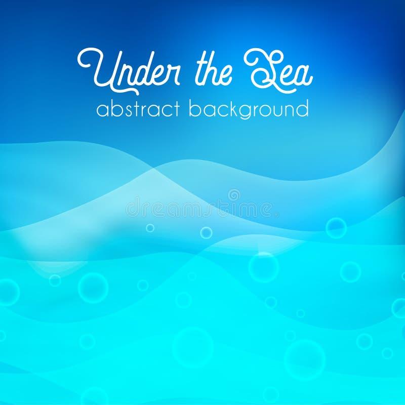 Undervattens- bakgrund, abctractvektorillustration vektor illustrationer