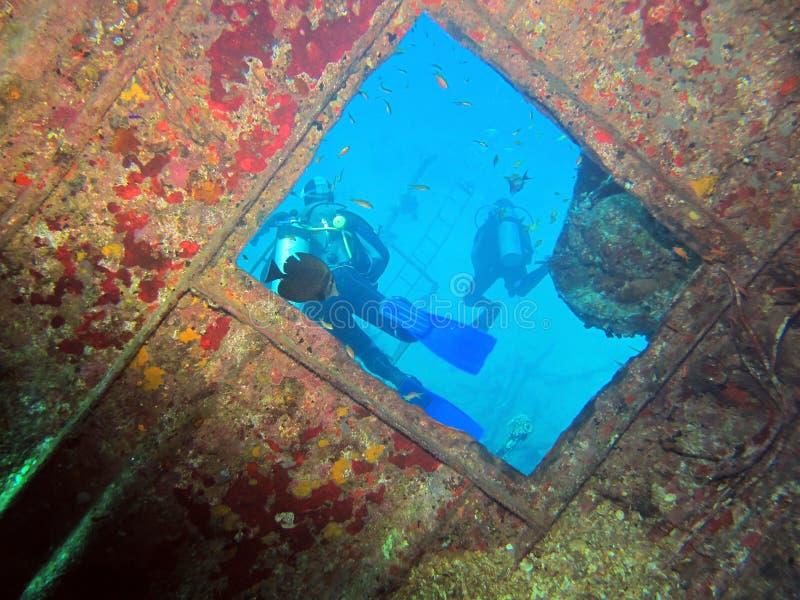 Undervattens- fönster royaltyfri foto