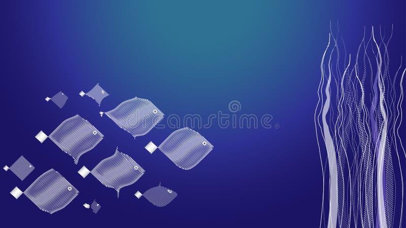 Undervattens- fisktapet 2 royaltyfri fotografi