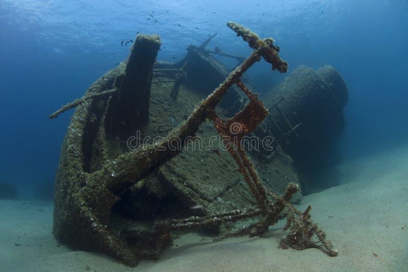 undervattens- haveri arkivfoto