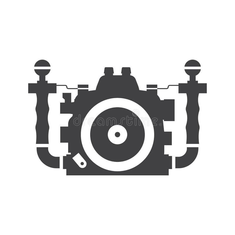Undervattens- kameravektorsymbol vektor illustrationer