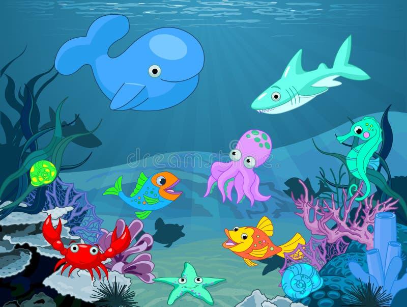 Undervattens- liv royaltyfri illustrationer