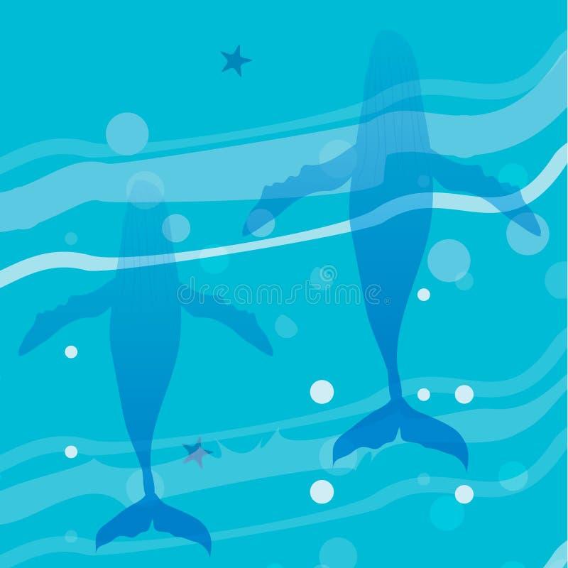 Undervattens- liv för hav stock illustrationer