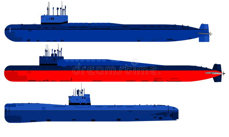 Undervattens- militär transport royaltyfri illustrationer