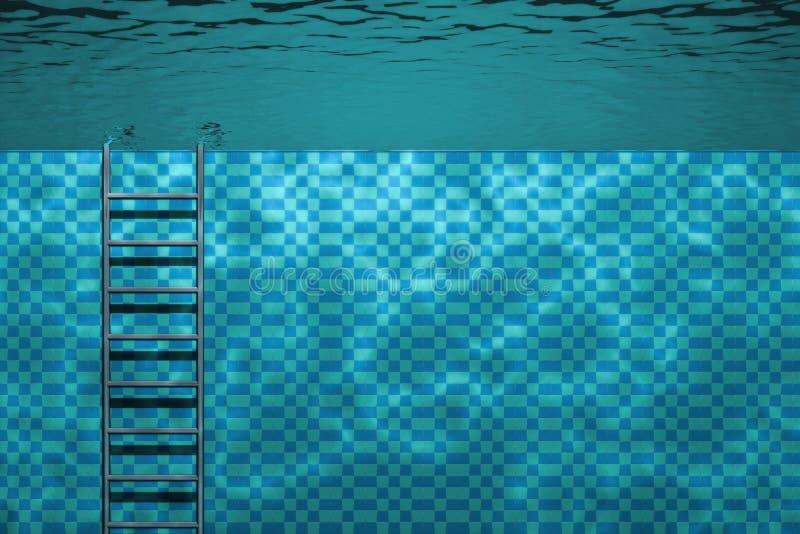 undervattens- pölplatssimning arkivbild