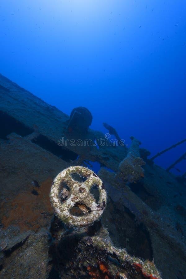 Undervattens- skepp arkivfoto