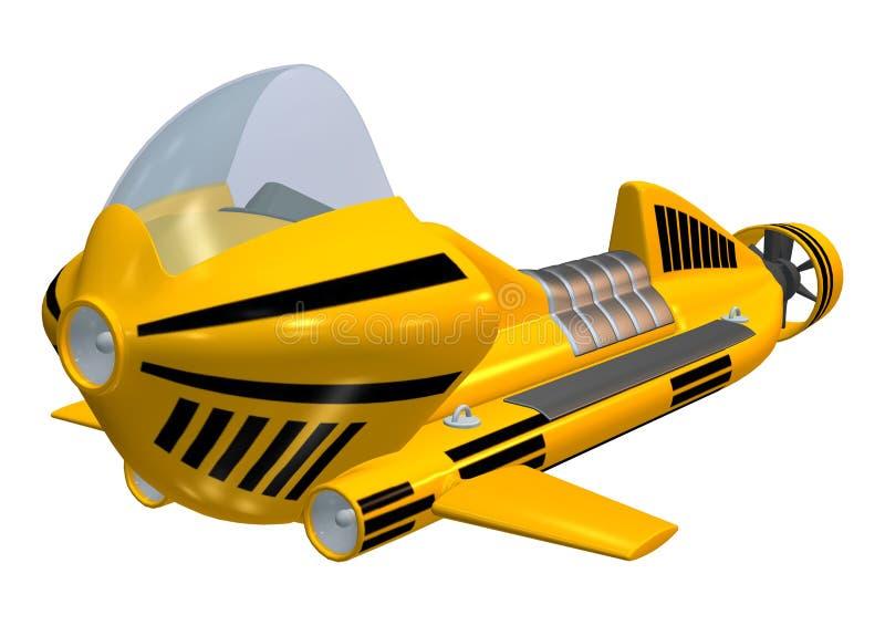 Undervattens- sparkcykel stock illustrationer