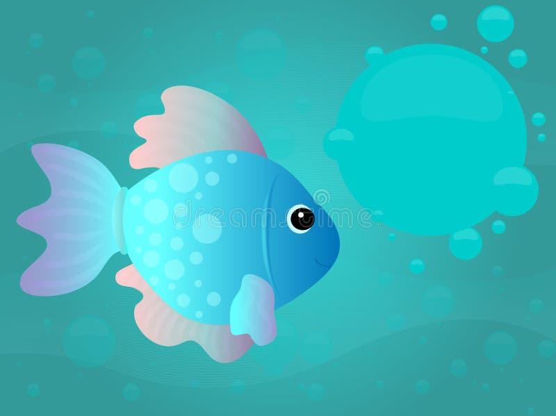 undervattens- tecknad filmfisk royaltyfri illustrationer