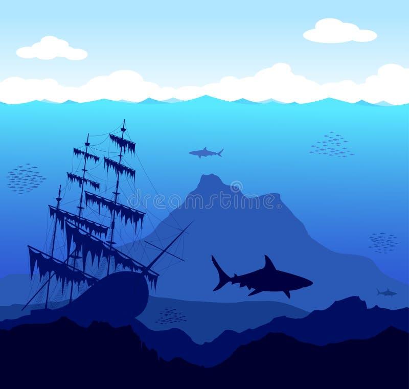 undervattens- värld stock illustrationer