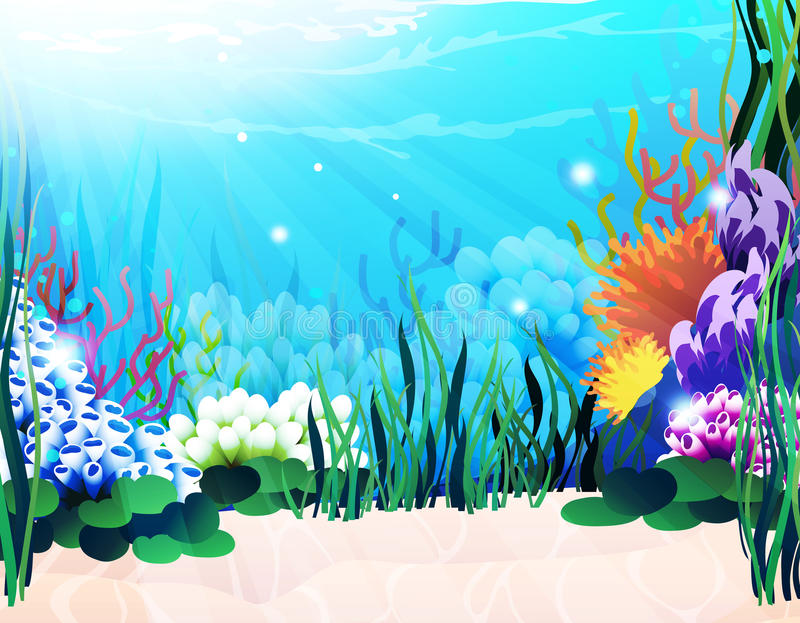 Undervattens- växter vektor illustrationer