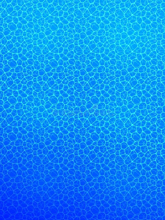 Undervattens- vektorillustration djup oceanisk affisch inre pöl watery bakgrund Ljus - blåttfärger Oceaniskt hav stock illustrationer