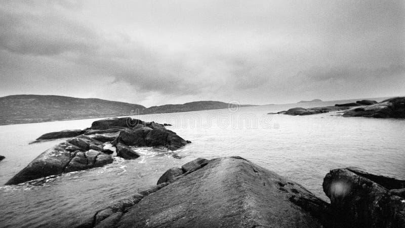Undervattensfartyg, intryck från Irlands kust arkivbild