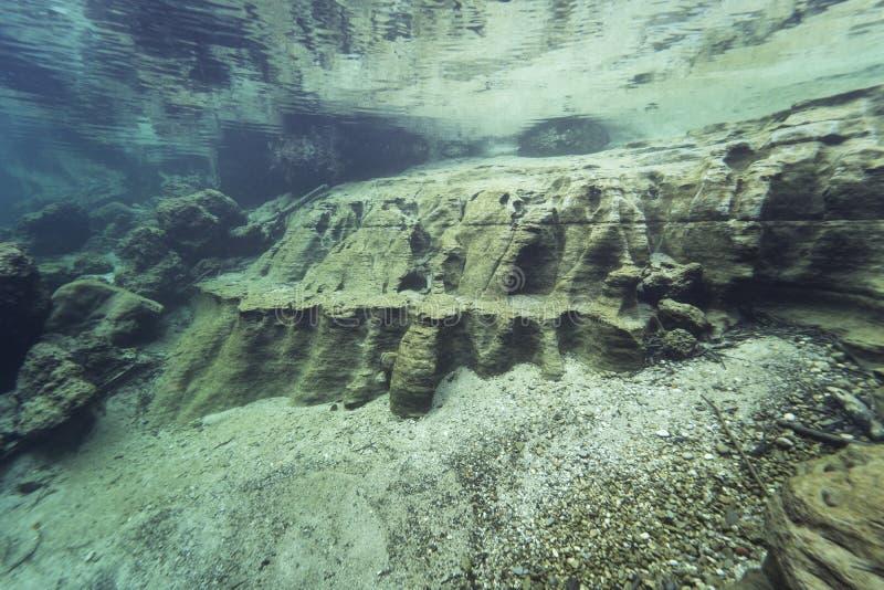 Undervattenslandskap rent vatten arkivbilder