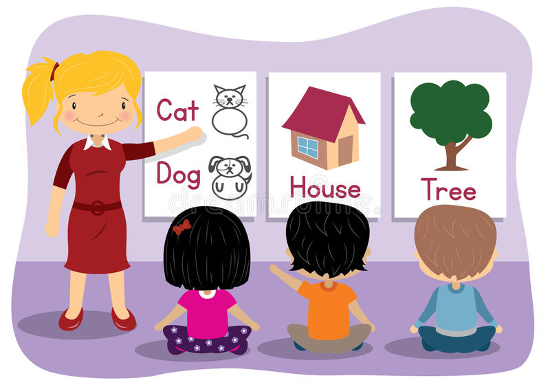 Undervisande ord stock illustrationer