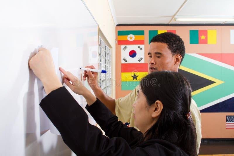 undervisande writing för kines arkivbild