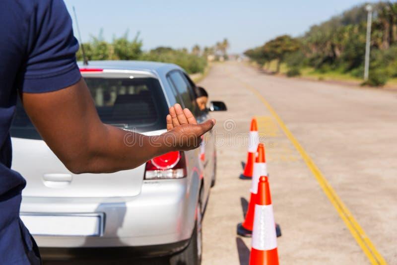 Undervisning för körningsinstruktör royaltyfri bild