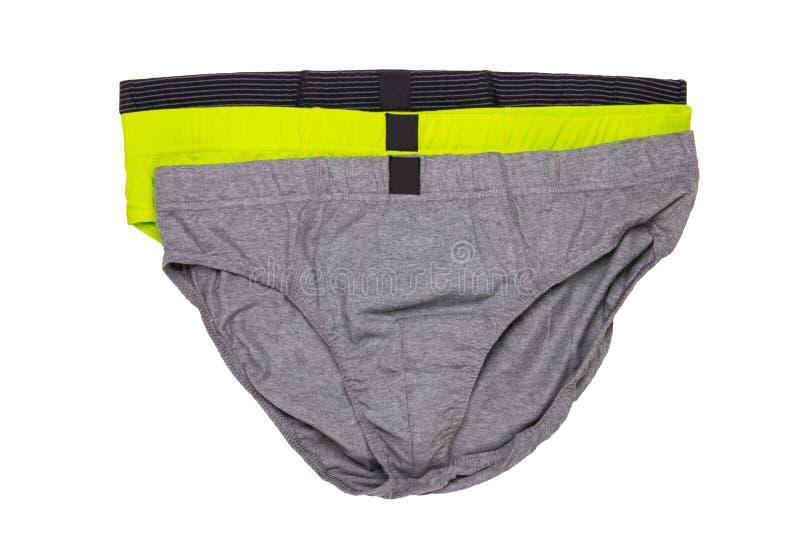 Underware aisló Primer del underware masculino colorido tres o calzoncillos aislados en un fondo blanco ropa fotografía de archivo libre de regalías