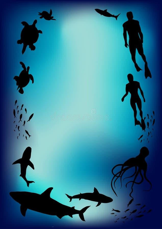 Download Underwater stock vector. Illustration of sport, silhouette - 20322329