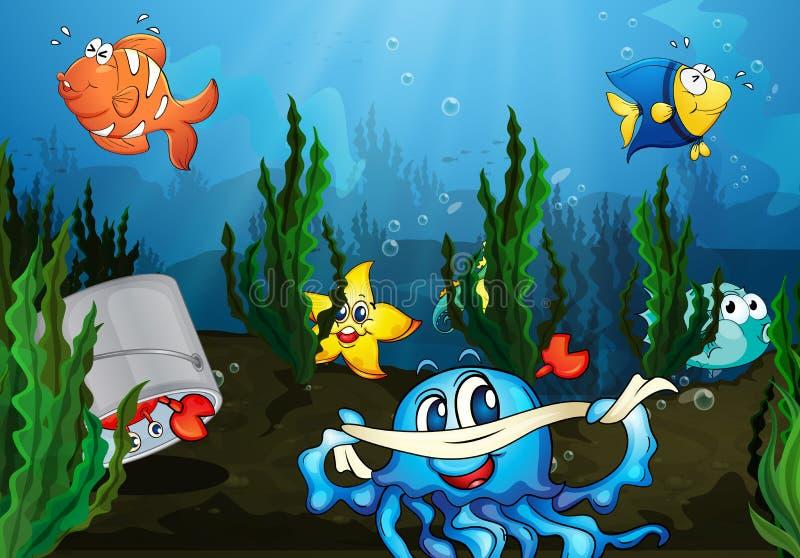 Underwater royalty free illustration