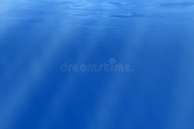 Underwater. Abstract underwater scene with light rays vector illustration