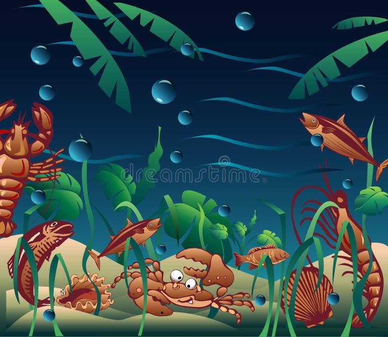 Download Underwater stock illustration. Image of fish, marine, deep - 79681