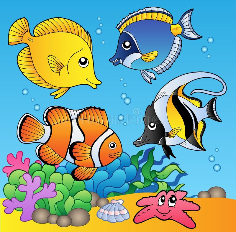 Download Underwater Animals And Fishes 2 Stock Vector - Illustration: 16987168