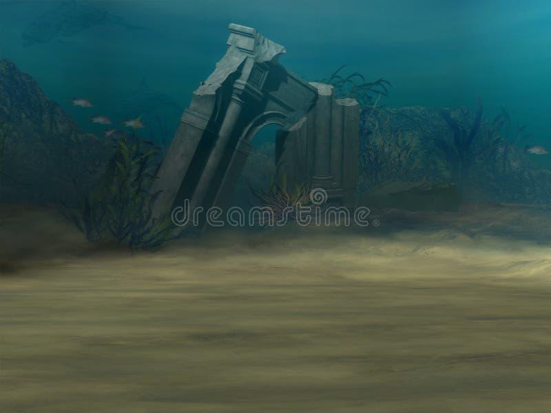 Download Underwater Background stock illustration. Image of deep - 1968628