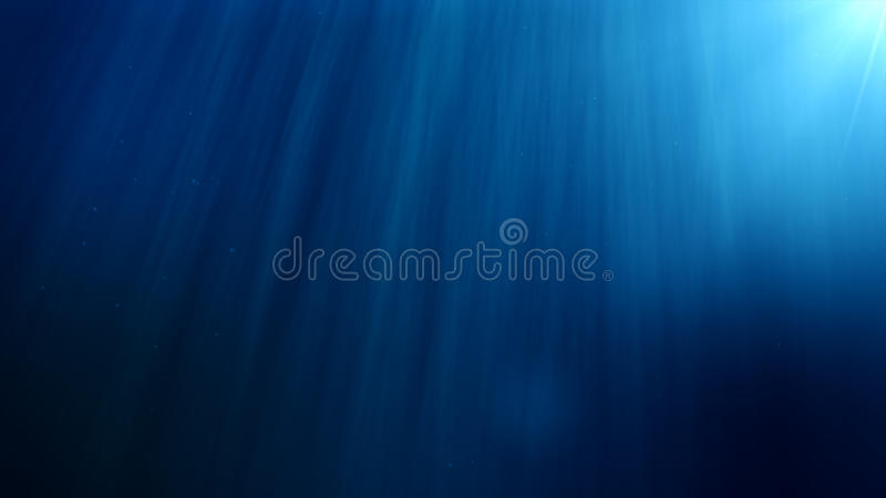 Underwater background. Blue Underwater with ripple and wave lights royalty free illustration