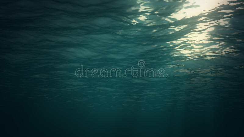 Underwater background. Blue Underwater with ripple and wave lights vector illustration
