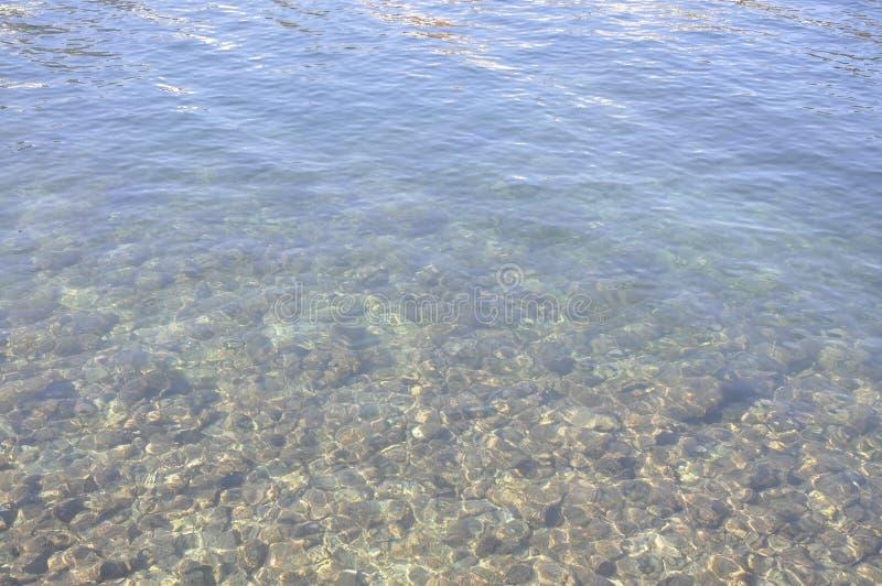 Underwater background of Lake Voulismeni from Agios Nikolaos in Crete island stock photo