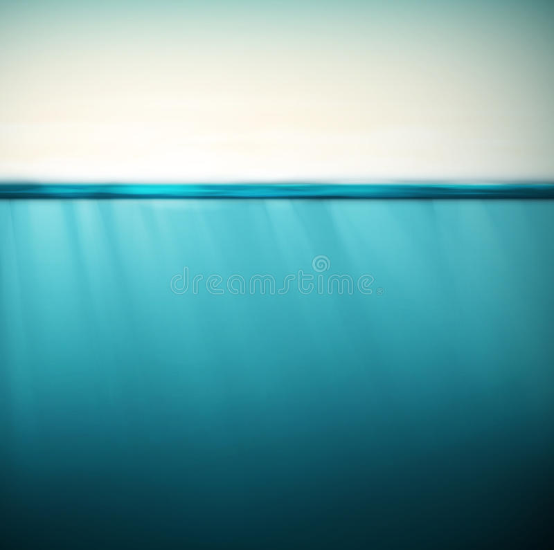Underwater background royalty free illustration