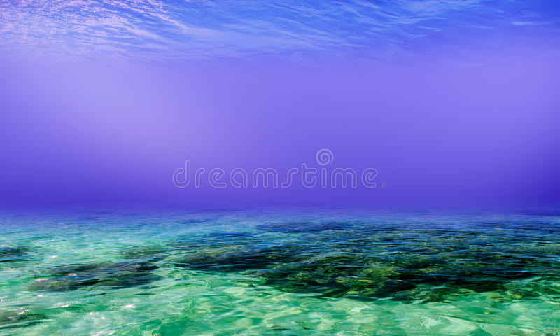 Underwater Background in the Sea. General illustration stock image