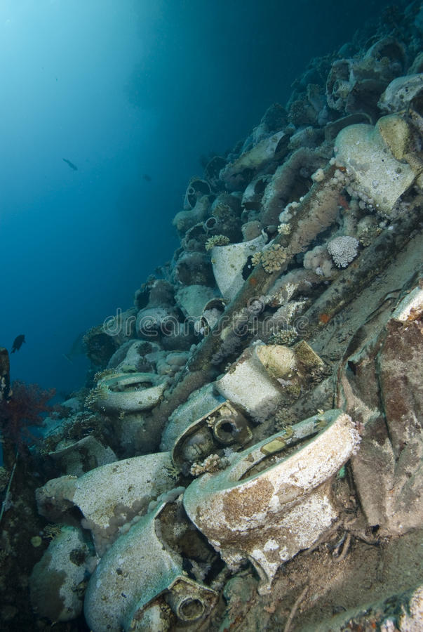Free Underwater Cargo Remains Of A Shipwreck. Royalty Free Stock Photos - 16093318