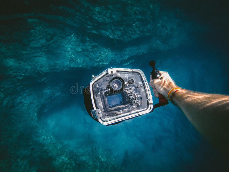 Underwater cave royalty free stock image