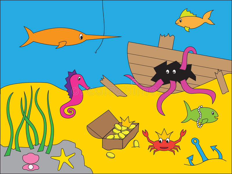 Download Underwater Drawing Stock Photos - Image: 12405063
