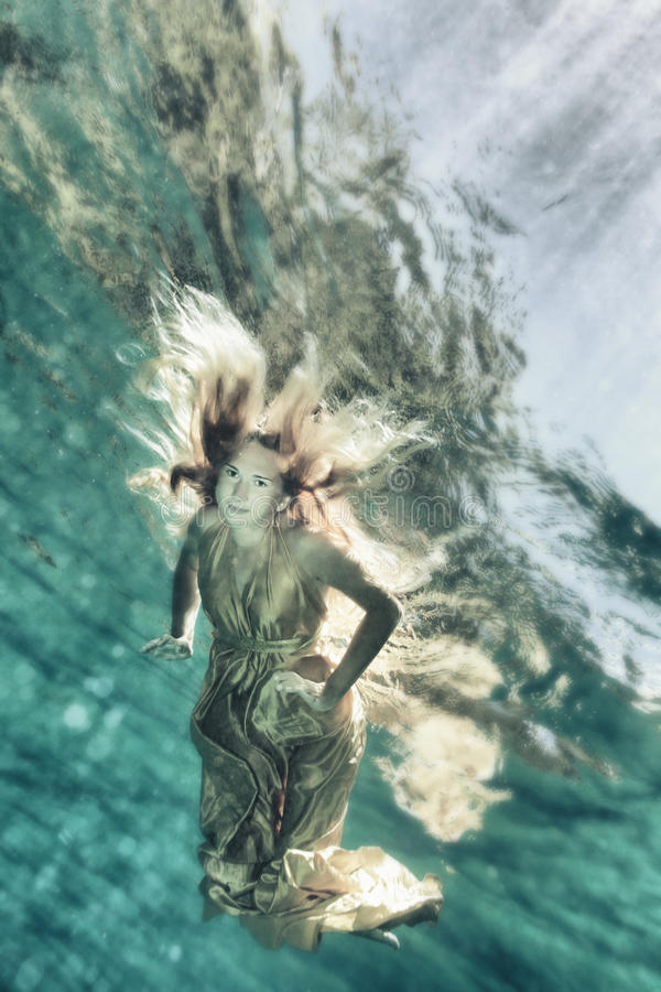 Download Underwater fairy tate stock photo. Image of fashion, beautiful - 20049390