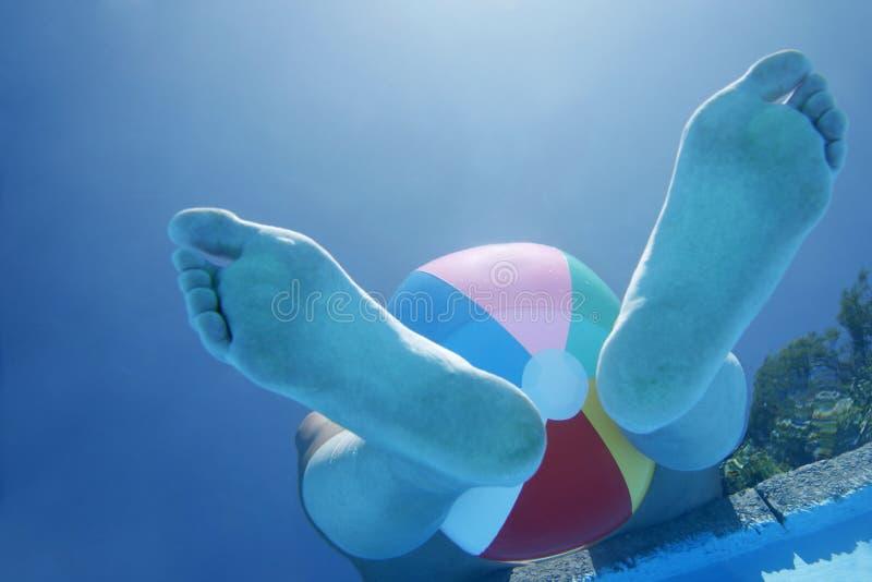 Underwater Feet stock photo