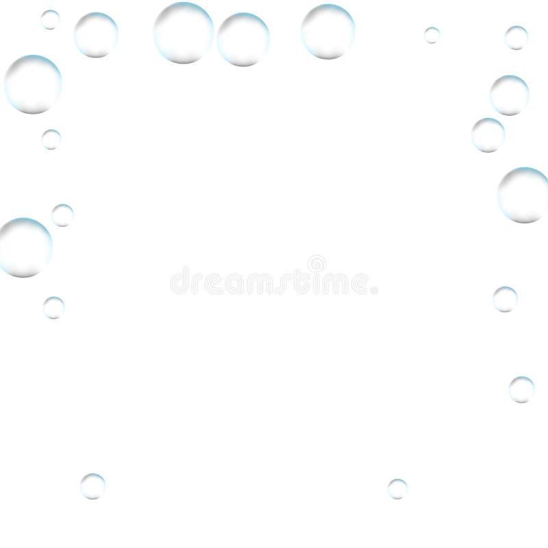 Underwater fizzing air bubbles on white background. Fizzy sparkles in water, sea, aquarium, ocean. Effervescent drink. Undersea v vector illustration