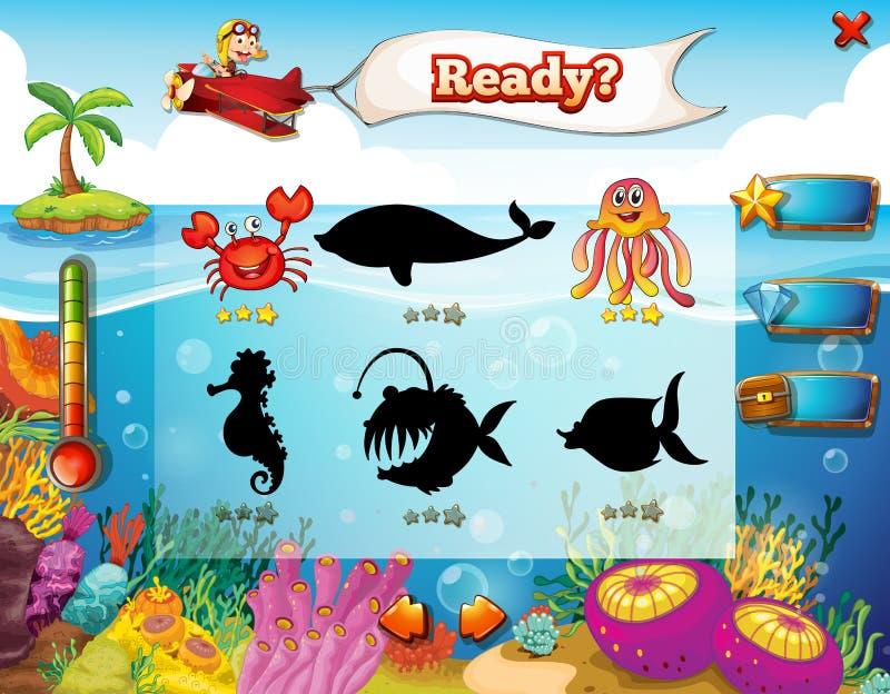 Underwater game stock illustration