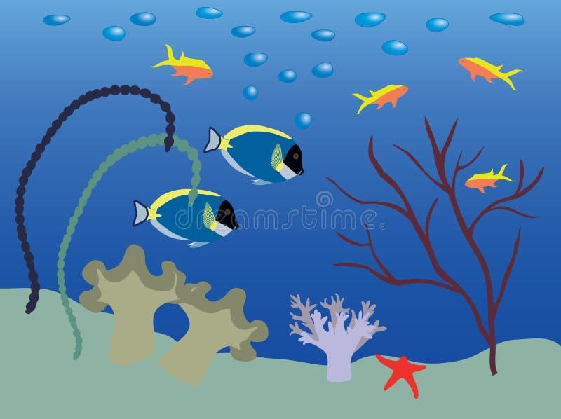 Download Underwater landscape stock vector. Illustration of undersea - 4383324