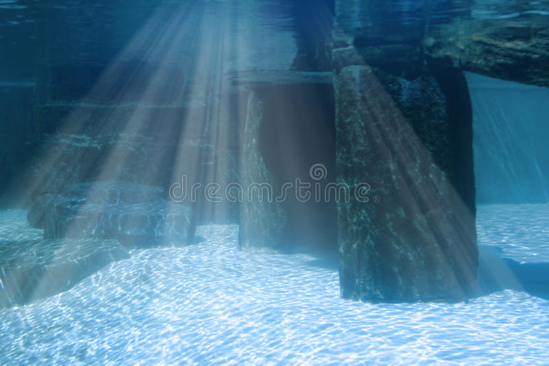 Underwater landscape with rocks royalty free stock images
