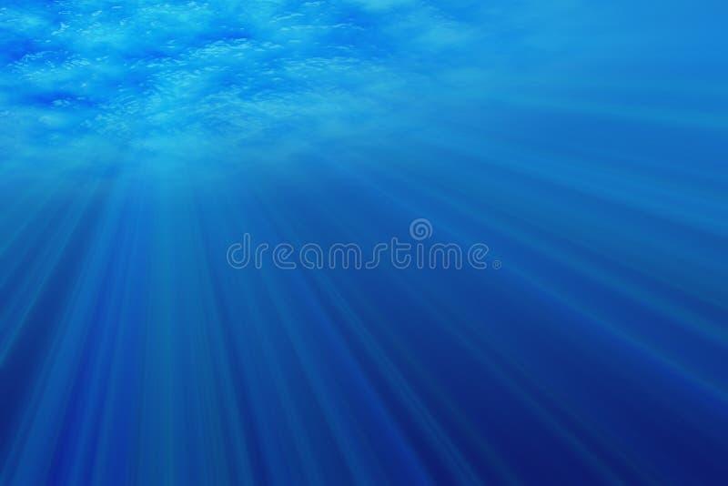 Underwater light. Abstract underwater scene