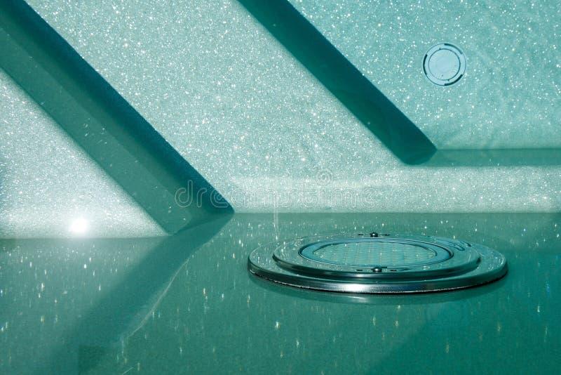 Underwater lighting for the pool, pool lighting, spotlight, lamp royalty free stock photo