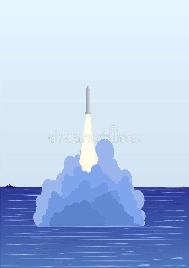 The Underwater Missile Launch Royalty Free Stock Photos
