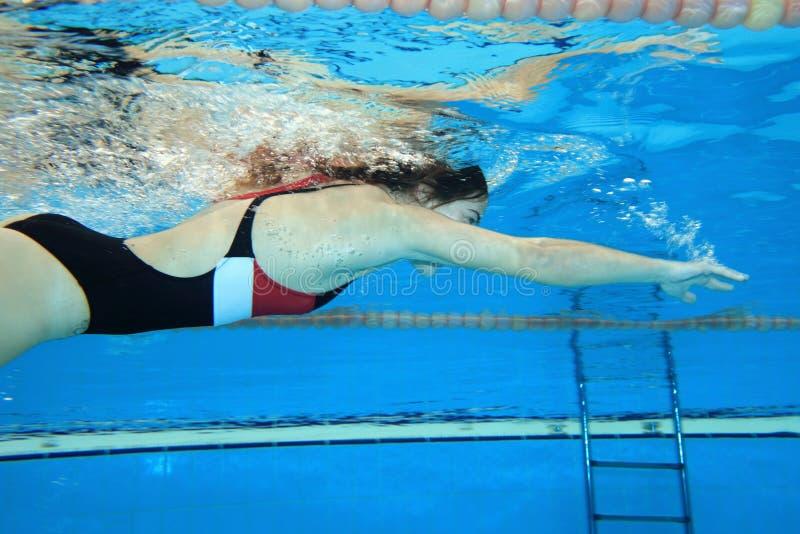 Underwater movente fotografia de stock