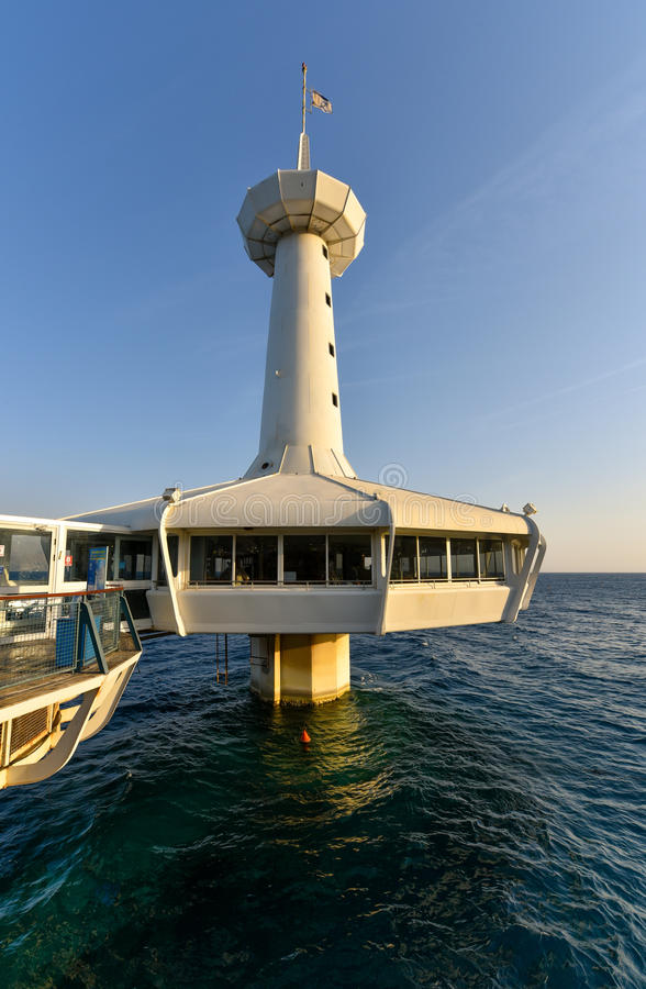 Underwater Observatory Eilat Israel stock photo