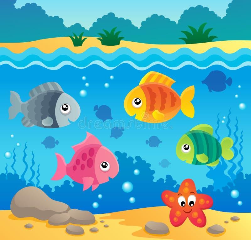 Underwater Ocean Fauna Theme 2 Stock Vector