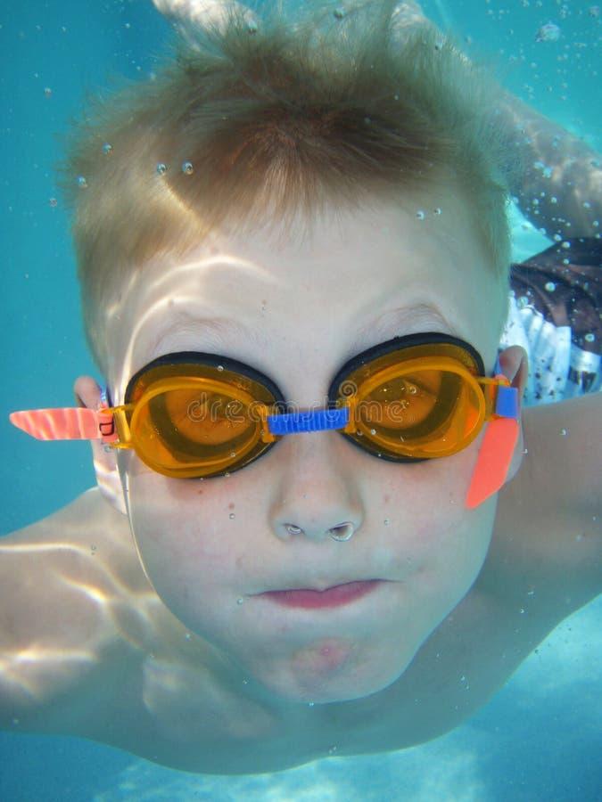 Underwater portrait stock image