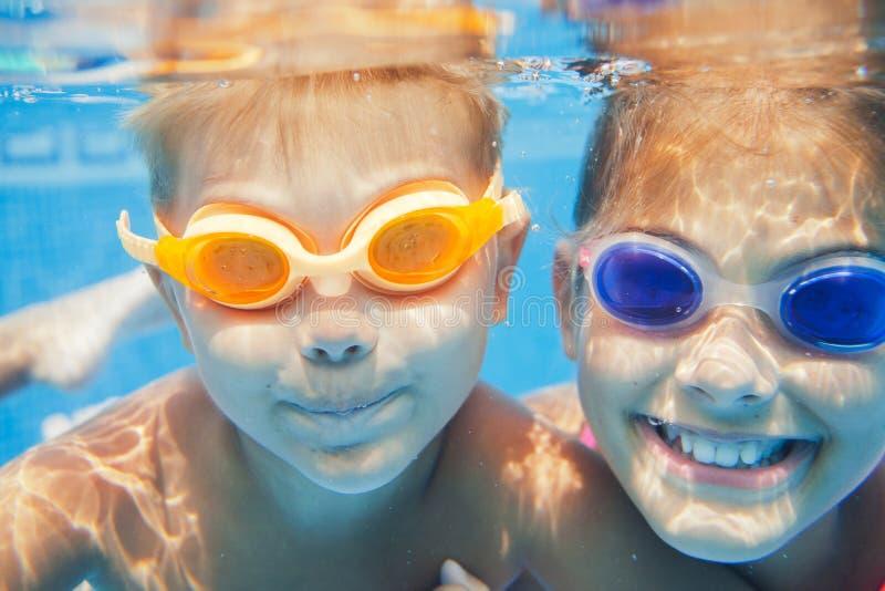 Underwater portrait kids royalty free stock image