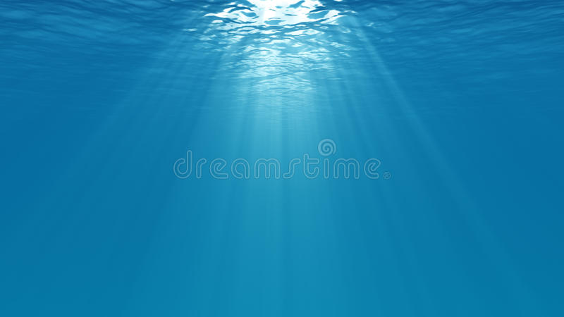 Underwater scene royalty free illustration